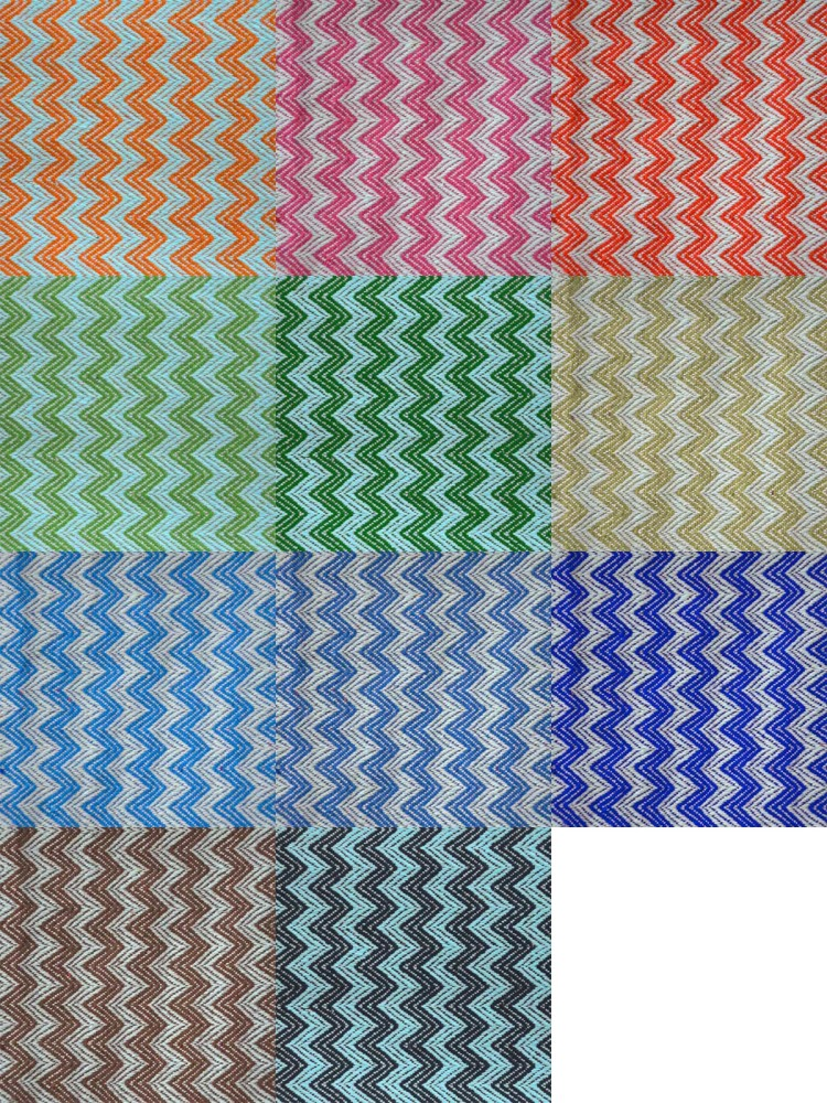 Linen-cotton Zigzag colors