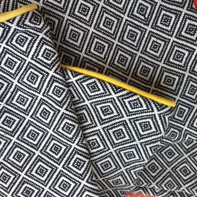 Diamond Black Cushion Covers