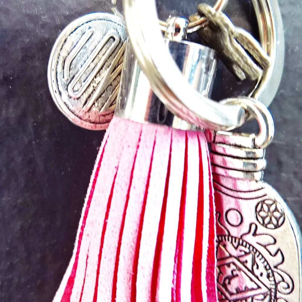 Bright Pink Tassel