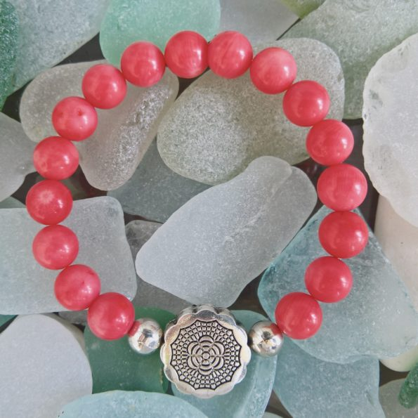 Charity Stone Bracelet – Bamboo Coral