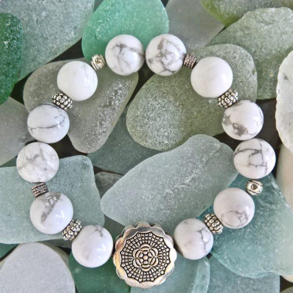 Charity Stone Bracelet – White Howlite