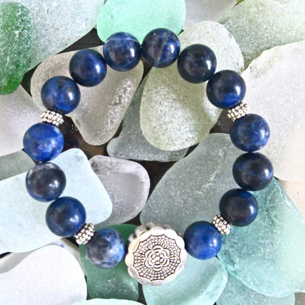 Charity Stone Bracelet – Blue Sodalite