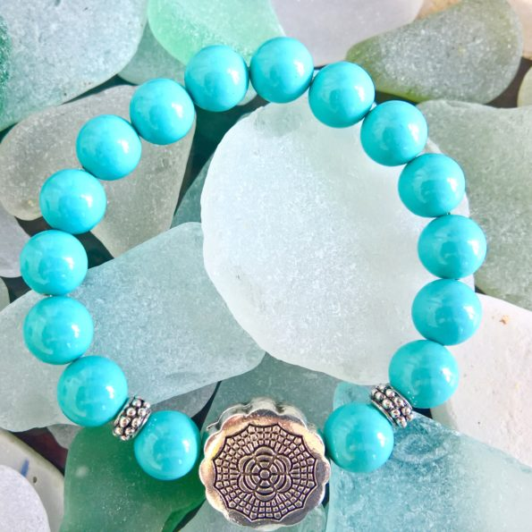 Charity Stone Bracelet – Shell Pearl
