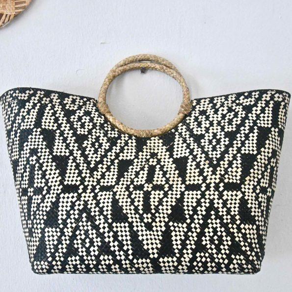 Handmade Ticog Bag / B&W