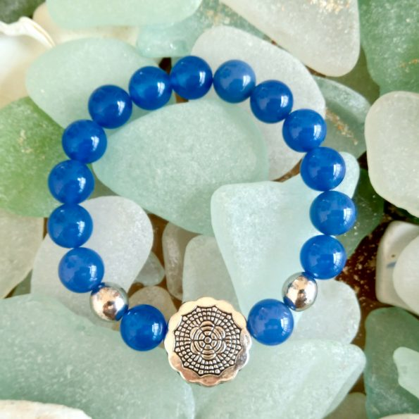 Charity Stone Bracelet – Blue Chalcedony