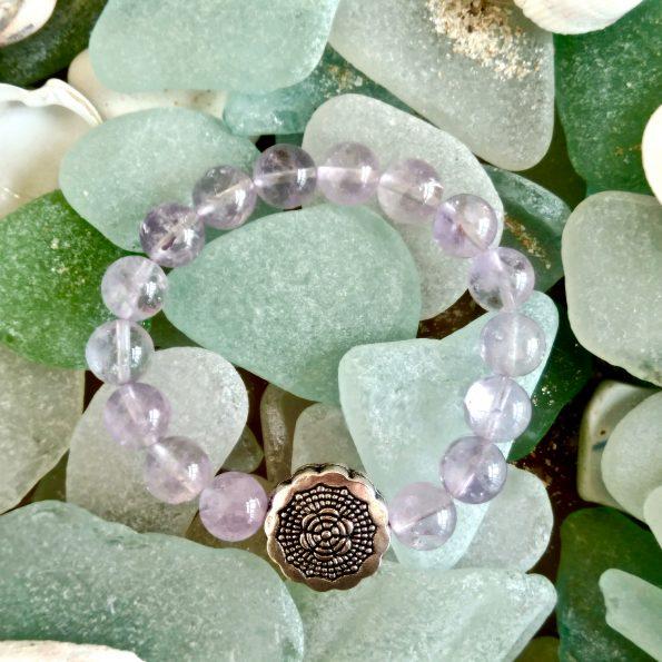 Charity Stone Bracelet – Lavender Quartz