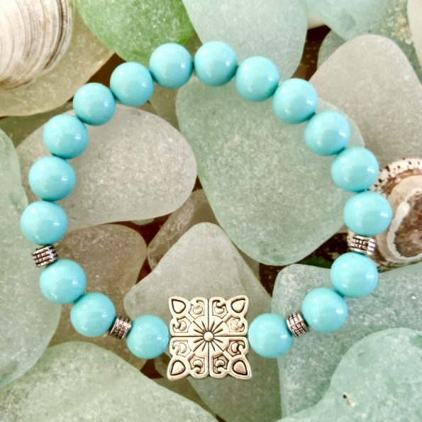 Charity Stone Bracelet – Shell Pearl (Square)