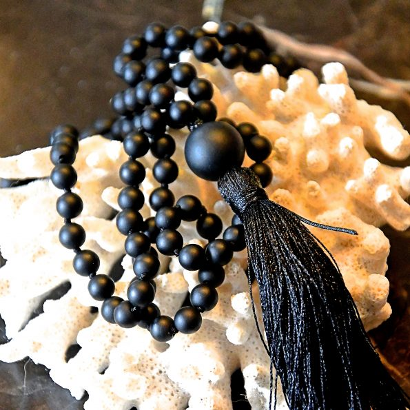 Charity Necklace – Black Matt Onyx