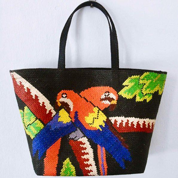 Handmade Ticog Bag / Parrots