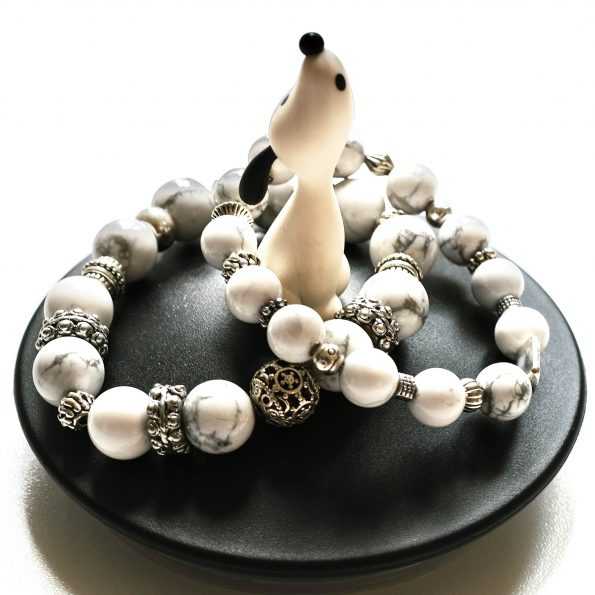 NEW! Charity Stone Bracelet – White Howlite