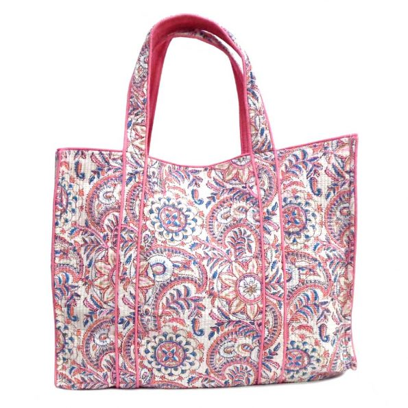 """Quilted Beach Bag """"Pink Delight"""""""